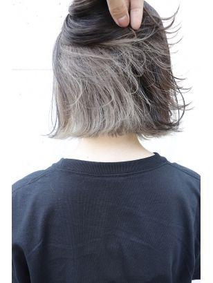 Arue インナーカラー ホワイトアッシュ ミルクティーグレー 髪色