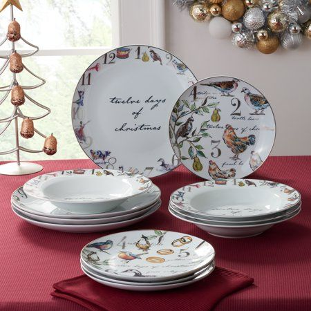 Home Christmas Dinnerware Sets Christmas Dinnerware Dinnerware Sets For 12