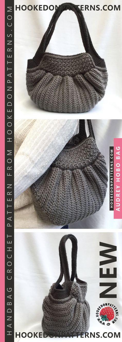 Handbag Crochet Pattern Audrey Hobo Bag Borse Pinterest