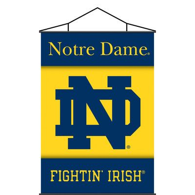 Support your favorite College team at home or in the office by hanging up this indoor banner scroll from BSI Products. The 3 ft. x 2 ft. indoor banner is designed with a plastic holder and