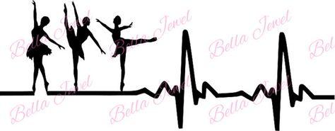 Ballet dancer SVG ballet svg heartbeat svg by BellaJewelBoutique