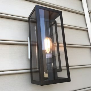 Nomad Glass Box Lantern In 2020 Outdoor Wall Lighting Wall Lights Exterior Wall Light
