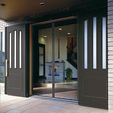 玄関 勝手口リフォームで風通しの良い玄関にしたい 2020 京町屋 玄関 玄関網戸 引き戸