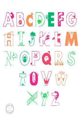 Alfabeto En Ingles Para Colorear Imagui Abecedario Para Imprimir Abecedario Caligrafía Creativa