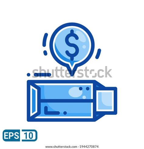Envelope Money Icon Filled Line Style Stock Vector (Royalty Free) 1944270874