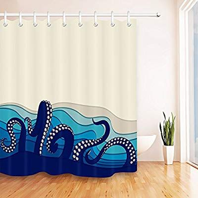 Lb Octopus Tentacles In Sea Kraken Monster Shower Curtain For