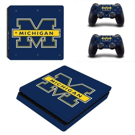 Michigan Wolverines Ps4 Slim Skin In 2020 Ps4 Slim Ps4 Slim Console Ps4 Pro