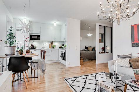 Studio apartment floorplan layout