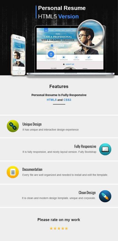 bootstrap-html5-template Bootstrap marketplace Pinterest - bootstrap resume template
