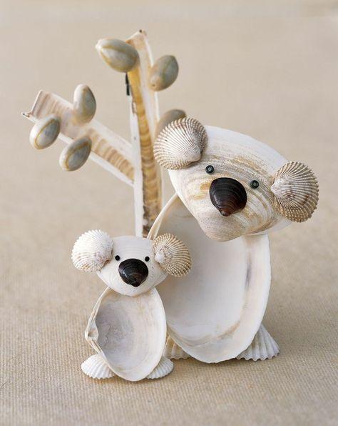 Figuren Basteln Mit Muscheln Koalas Basteln Mit Muscheln