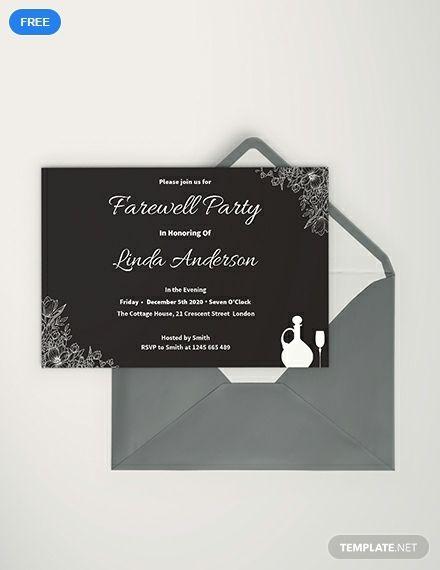 Free Chalkboard Farewell Invitation Farewell Invitation Card