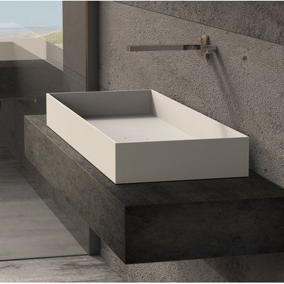 Ideavit Solidjoy Rectangular Vessel Bathroom Sink In 2020 Wall