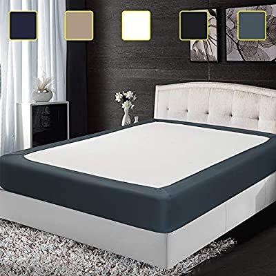 Amazon Com Twin Six Update Box Spring Cover Premium Elastic Wrap Around Bed Skirt For Hotel Home Mattress Prot In 2020 Mattress Box Spring Cover Mattress Encasement