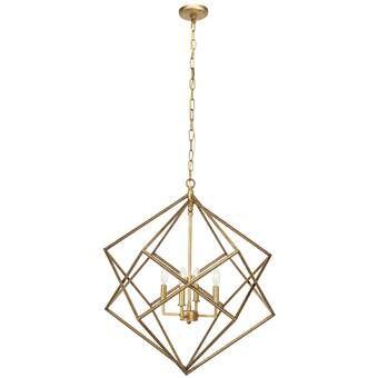 Tekoa 4 Light Candle Style Geometric Chandelier In 2020