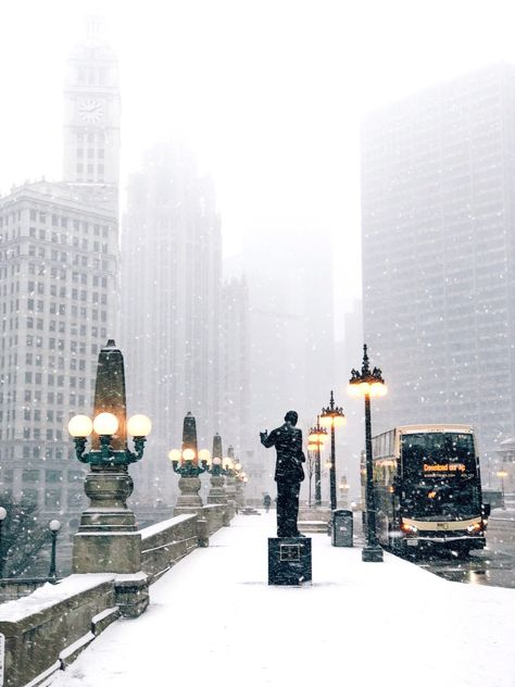 Chicago Christmas, Chicago Winter, New York Christmas, Snow Photography, Chicago Photography, Travel Photography, Levitation Photography, Exposure Photography, Abstract Photography