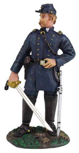 W Britain 31095 Union Infantry Iron Brigade Reaching for Cartridge No.1