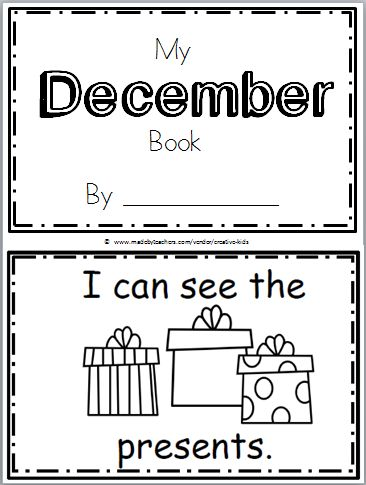Superstars Which Are Helping Individuals Overseas Free December Book For Kindergarten Practice Reading The Words I Can See The There Are 10 Pages In This December Mini Book. You Can Print And Use All The Pages Or Just The One