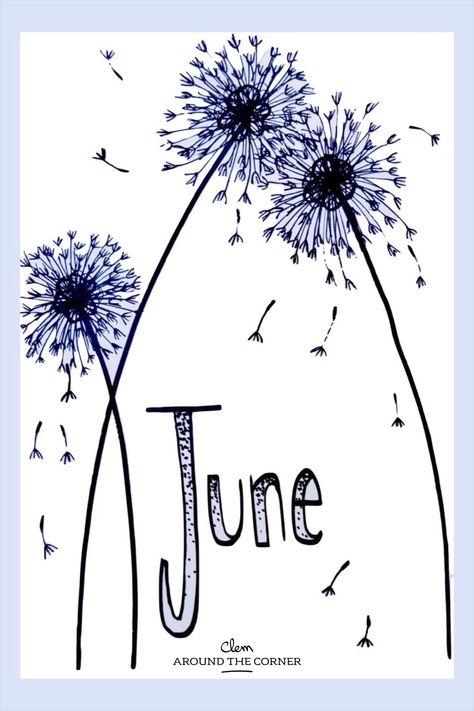 clem around the corner - blog deco - inspiration bujo facile et rapide pour le mois de juin dessin dans les tons bleus dessin frais et léger inspiration printemps été dessin de fleurs avec un envole de pétales blue draw easy and quick do it yourself DIY to make with your children home made hand made june bujo draw inspiration blue flower bujo to do with your children #bulletjournal #bujo #junebulletjournal #日记 #doodles #bulletjournalmonthlylog #coloringforadults #showmeyourplanner #mybujo