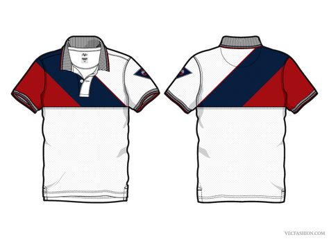 Men White Sport Polo Shirt with Tipping