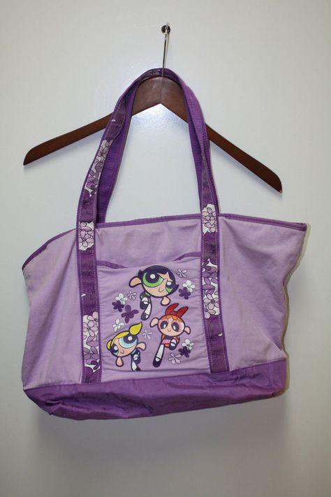 a6cef669e20 Vintage 90s Powerpuff Girls Tote Bag Cartoon Network Buttercup Blossom  Bubbles | eBay