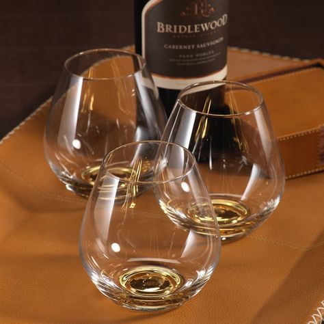 Golden Base Stemless Wine Glass Dimensions 4 X 4 Sold As A