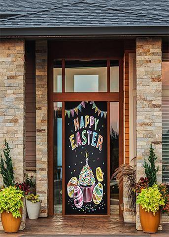 Christmas Door Covers.Happy Easter Door Decoration Fabric Door Covers Holiday