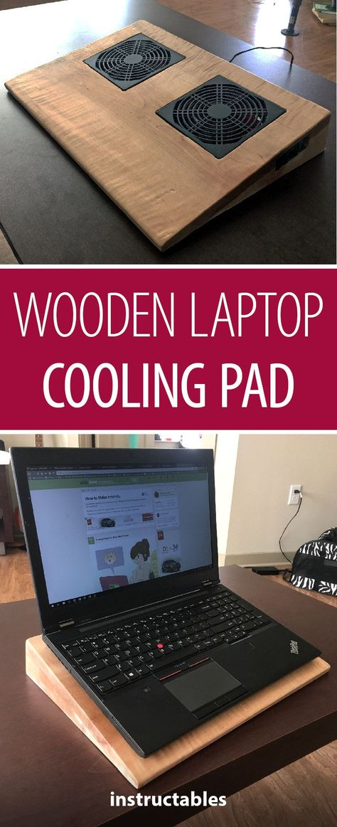 Wooden Laptop Cooling Pad Carpintaria
