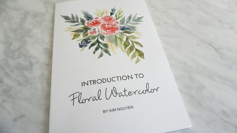 Introduction To Floral Watercolor Booklet Floral Watercolor