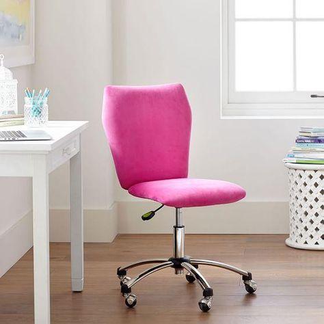 Pink Bedroom Desk Chair En 2020 Con Imagenes