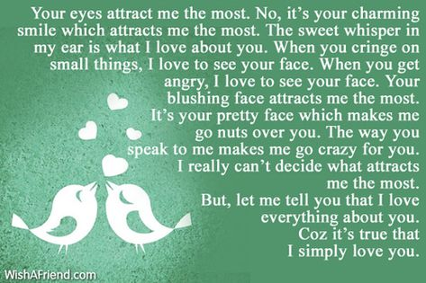 Your eyes attract me the Love Letters for Her Pinterest