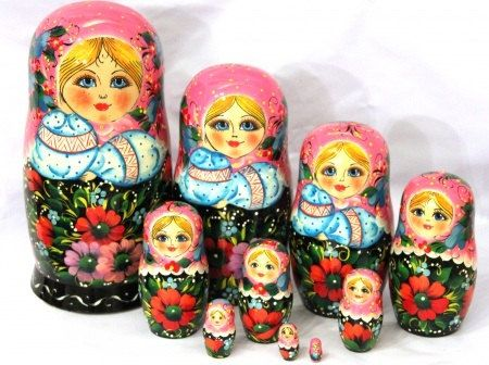 "Nesting doll /""Summer/"" 10 pcs 10 Inches handmade collectible"