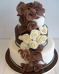 Classic chocolate cake with roses