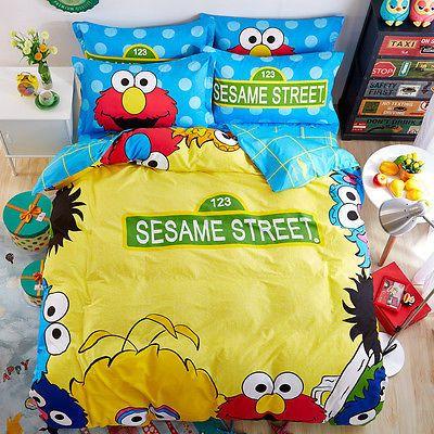 Twin Size Sesame Street Elmo Big Bird, Elmo Bedding Queen Size
