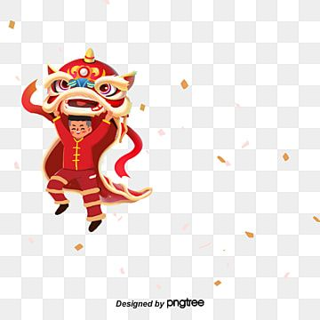 Lion Dance In Chinese Style Spring Festival Chinese Style Custom Traditional Festival Png Transparent Clipart Image And Psd File For Free Download Lion Dance Spring Festival Poster Chinese Style