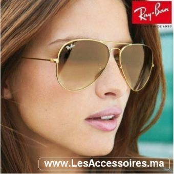 ray ban aviator marrone