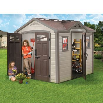 Garden Sheds Costco costco: keter® summit 8' x 9' storage shed | outside | pinterest
