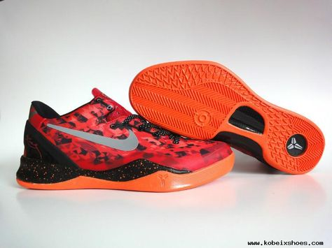 1a3859f0d2b Nike Kobe 8 System Challenge Red Reflective Silver-Team Orange-Electro  Orange