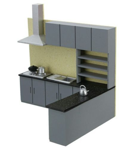 Doll House Miniature Kitchen Furniture Set 1 24 Scale Kitchen