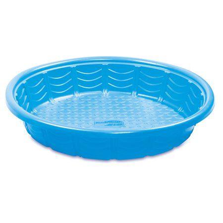 Summer Waves 45in Plastic Kiddie Wading Pool Assorted Colors Walmart Com In 2021 Plastic Pool Kiddie Pool Baby Pool