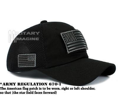 Tactical Operator Military Cap Usa American Flag Hat Detachable Patch Micro Mesh Ebay American Flag Hat Black American Flag Flag Hat