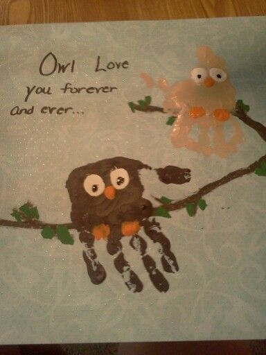 #diy #crafts #kids #owls  kids made this for daddy :)