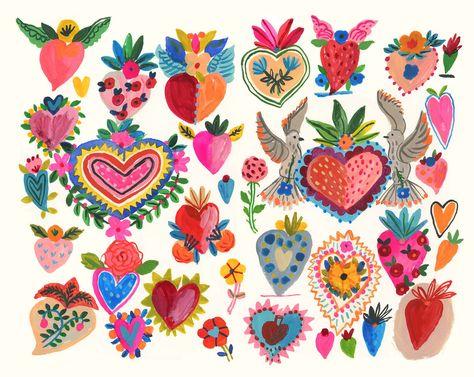 Milagros love hearts | Etsy