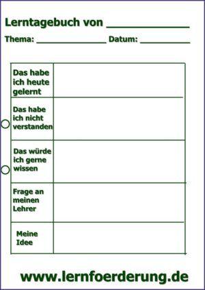 Lerntagebuch Tagebuch Fur Grundschulkinder Lernen Grundschule Aufsatz Schreiben