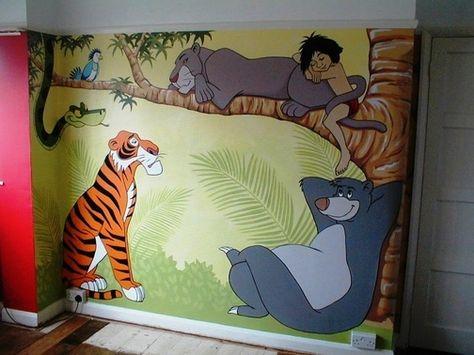 Children/'s bedroom Wall mural wallpaper Disney 202x90cm Jungle Book