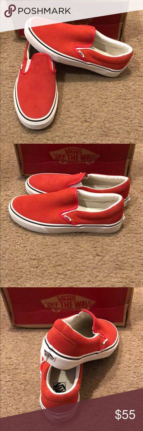 03598107a5 Suede Classic Slip On Vans New in box. Hibiscus true white Vans Shoes  Sneakers