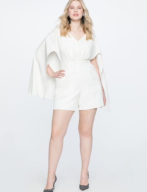 fac1565d407 Romper with Cape Detail