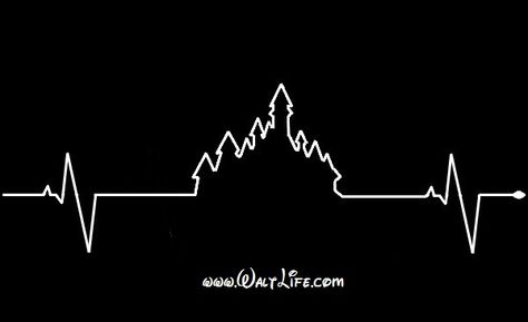 Walt Life Castle Heart Beat Monitor Decal