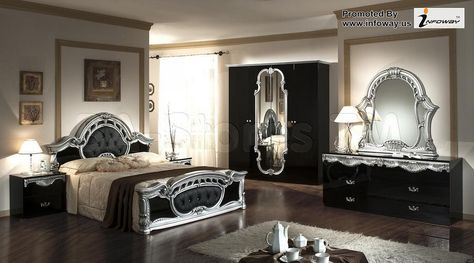 Casablanca Set In 2020 Black Bedroom Sets Mirrored Bedroom