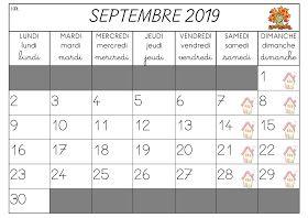 Calendrier 2019 Et 2021 Maternelle La maternelle de Laurène: Calendriers 2019   2020   Calendrier de