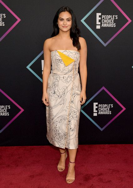 Camila Mendes attends the People's Choice Awards 2018.